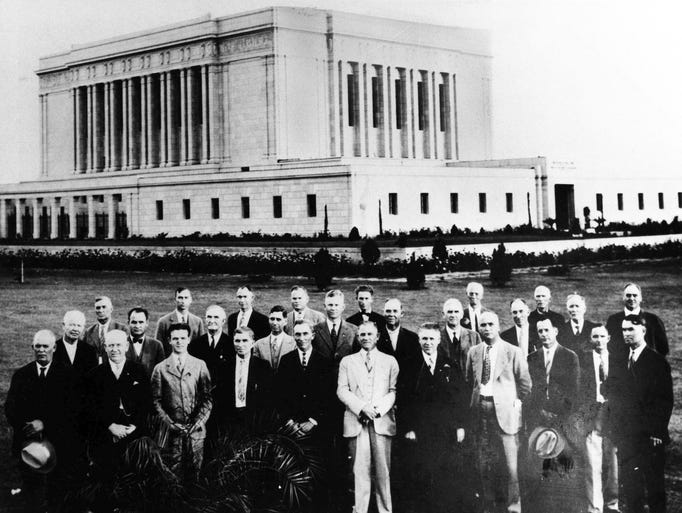 THEN: The Mesa Arizona Temple as seen in 1927. At that