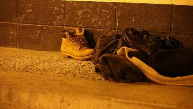 Belongings of a homeless person.