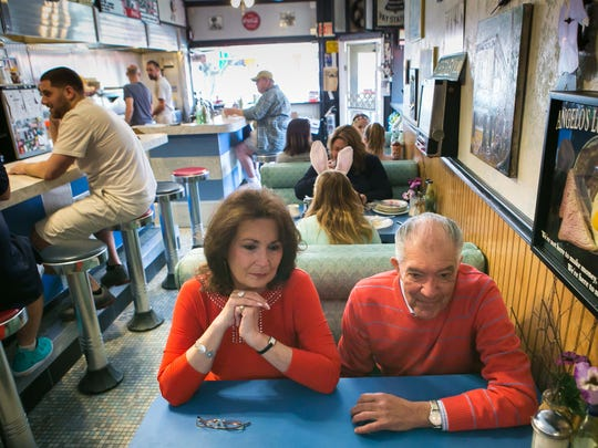 What to order at Angelo's Luncheonette? A fried egg and meat breakfast sandwich, grilled cheese and Campbell's tomato soup, Italian sausage sandwich, root beer float, Angie's burger.
