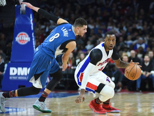 NBA: Minnesota Timberwolves at Detroit Pistons