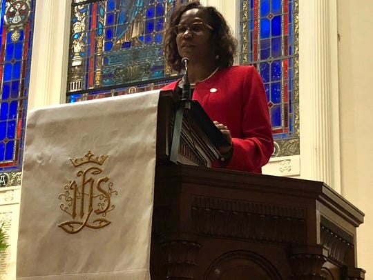 Dr. Laurie Carter, president of Shippensburg University,
