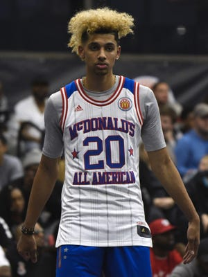 "658592966.jpg CHICAGO, IL - MARCH 27: Brian ""Tugs"" Bowen during the 2017 McDonald's All American games POWERADE Jam Fest on March 27, 2017 at the Illinois Institute of Technology in Chicago, Illinois. (Photo by David Banks/Getty Images)"