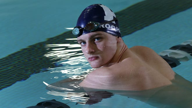 Sam Roche of Pittsford is the AGR Boys Swimmer of the Year.