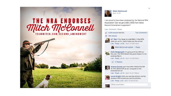 McConnell uses Danish hunter in Facebook post.