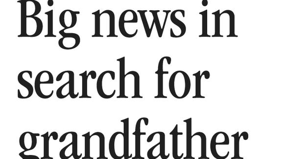 Bob Gabordi column from Tallahassee Democrat (April 1, 2009) announcing new information in the search for his grandfather.