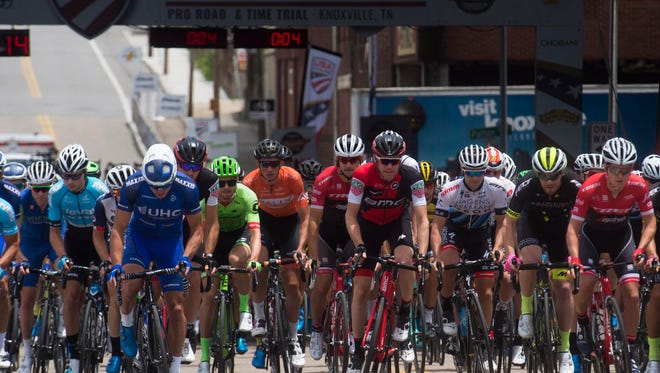Cyclists compete in the USA Cycling Road Race National Championship on Sunday, June 25, 2017.