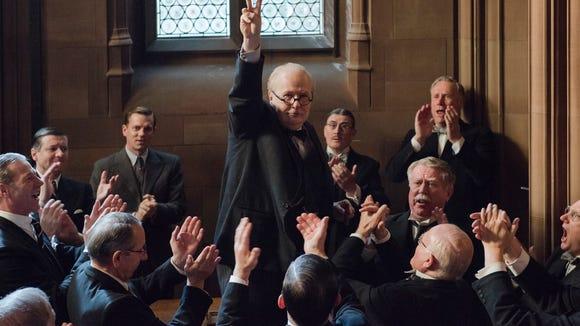 "Gary Oldman stars as Winston Churchill in director Joe Wright's ""Darkest Hour."""