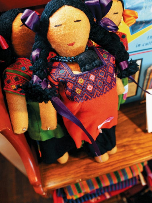 Robin Zielinski   Sun-NewsPictured are dolls made by women´s weaving cooperatives in highland Chiapas, Mexico that are on display at La Frontera.
