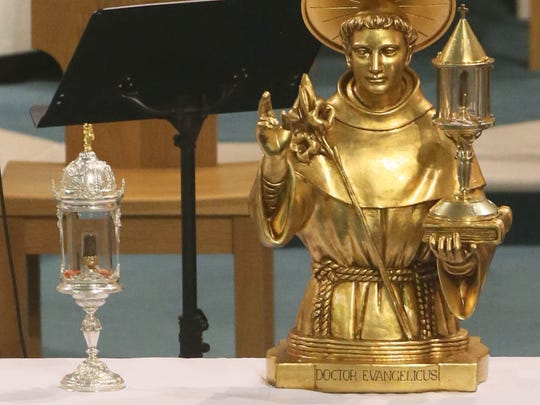 The relics of St Anthony of Padua were on view in 2013 the Church of the Visitation, in Fairview Dublin.