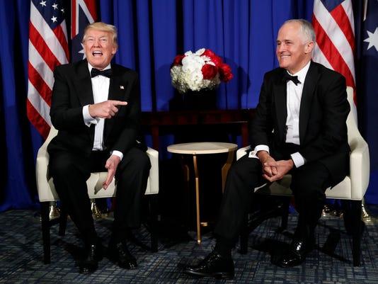 President Trump Australian Prime Minister Malcolm Turnbull