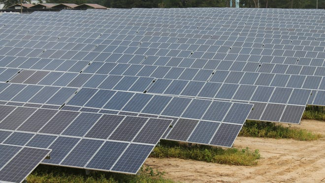 VizCo's solar power system has a total of 3,280 panels spanning nearly 4 acres.