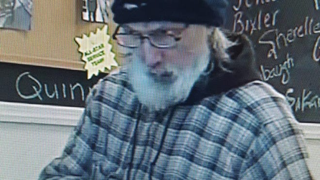 Northern York County Regional Police are asking for help in identifying this man, suspected of stealing a wallet and using the credit cards.