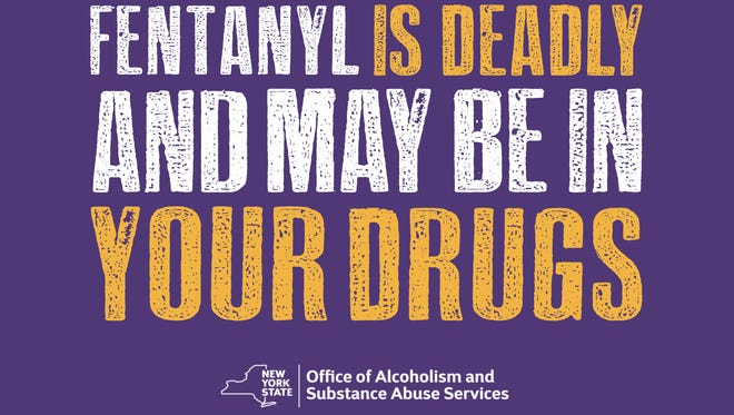 New York launched a public-awareness campaign Tuesday warning of the dangers of fentanyl. This image is part of one of the advertisements.