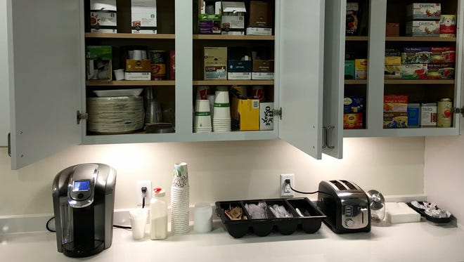 The Journal & Courier's new news and sales office has a fully stocked cafe.