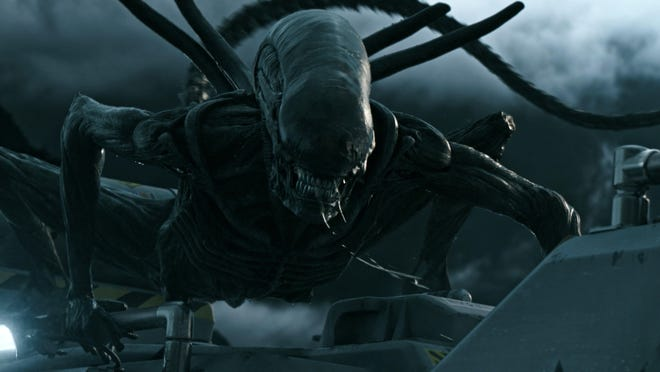 "This image released by Twentieth Century Fox shows a scene from ""Alien: Covenant."""