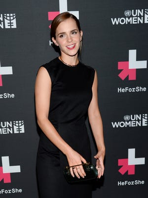 UN Women Goodwill Ambassador Emma Watson attends the HeForShe United Nations campaign launch party at the The Peninsula Hotel on Saturday, Sept. 20, 2014, in New York.