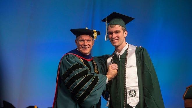 Dan O'Connor at graduation from Binghamton University.