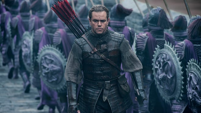 In his latest big-screen outing, Matt Damon plays a European mercenary tasked with protecting 'The Great Wall.'