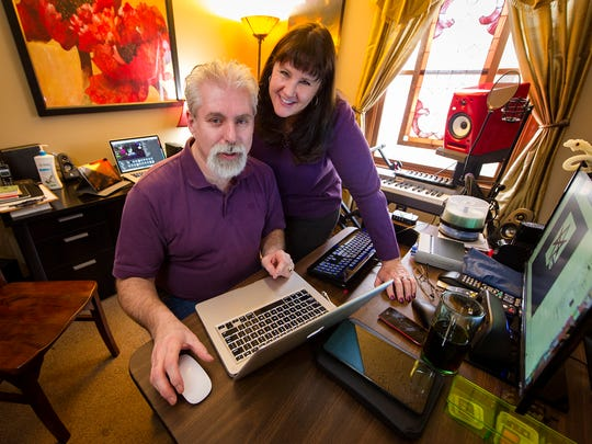 """Jill and Roger Pingleton, Greenwood, have created another new app for mobile devices titled """"Hex My Ex"""" in their home studio."""