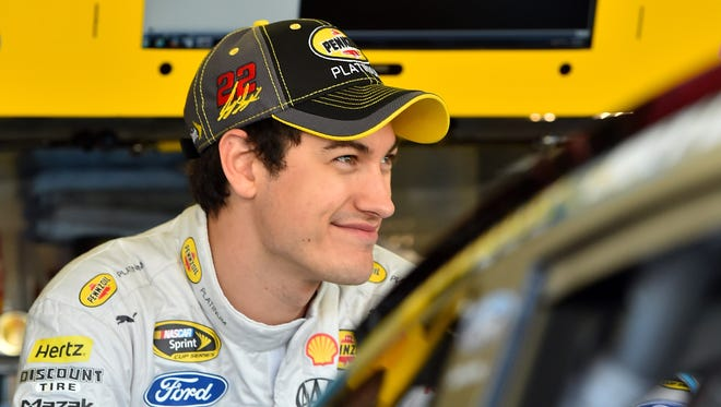 NASCAR Sprint Cup Series driver Joey Logano during practice for the Quicken Loans Race For Heroes 500 at Phoenix International Raceway.
