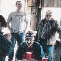 Bud Hall, seated, was about as loved a man as Black Mountain had.