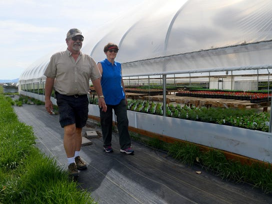 Pat and Becky Parker expanded from three to six greenhouses