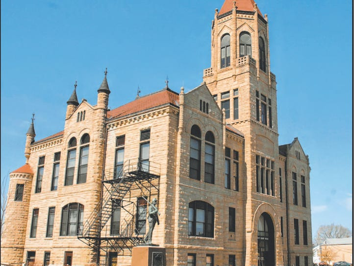 The Iowa County Courthouse is one of several stops