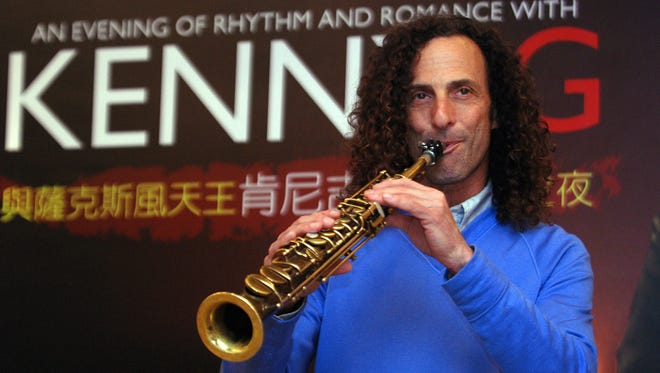 Kenny G, smooth jazz saxophonist, performs during a media event announcing his concert, in Taipei, Taiwan on May 14, 2010.