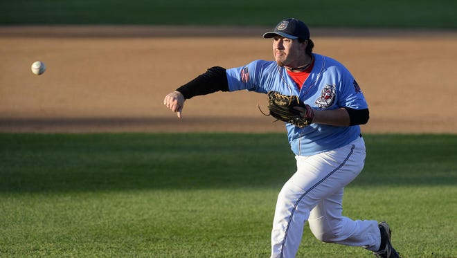 St. Cloud Rox pitcher Reese Gregory pitches against the Rochester Honkers in the second inning of their Northwoods League playoff game Monday night at Joe Faber Field in St. Cloud. Gregory and the Rox won 4-0.