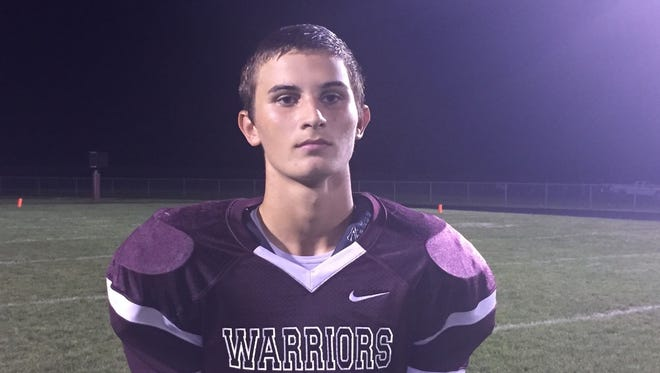 Wes-Del's Connor Townsend scored three touchdowns in the Warriors' win Friday.