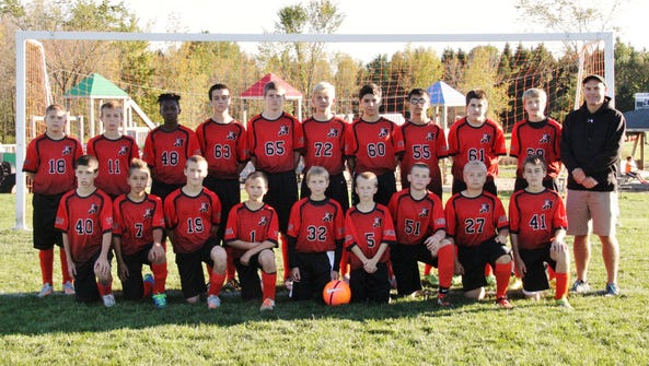 The Marshfield Middle School 7th-8th grade soccer team