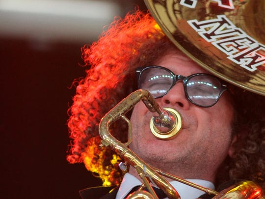 Ben Jaffe of the Preservation Hall Jazz Band performs