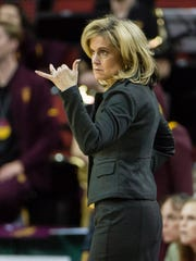 Arizona State Sun Devils head coach Charli Turner Thorne.