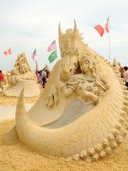 Sand sculpt away in A.C.