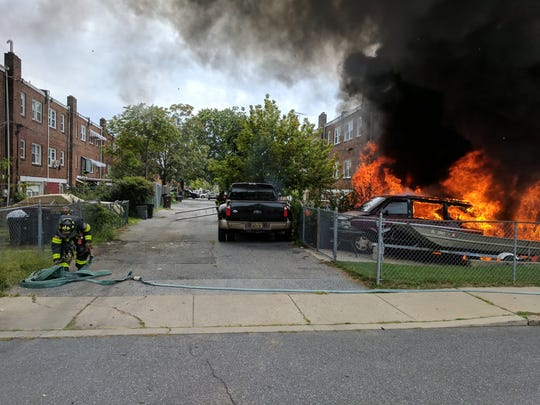 Wilmington Fire Department responded to a care fire on Sept. 1 that went on to burn another vehicle and two homes in the 2600 block of Thatcher Street.