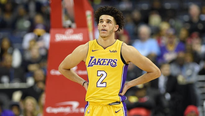 Los Angeles Lakers guard Lonzo Ball was benched for the last 16 minutes of his team's game against the Philadelphia 76ers on Wednesday night.