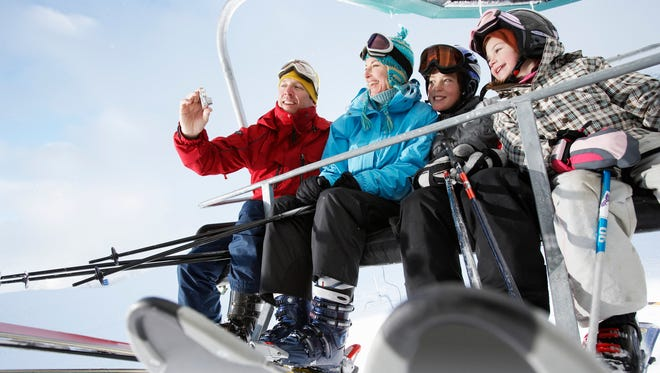 Skiing provides lots of opportunities to build family relationships;