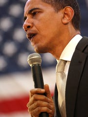 Barack Obama speaks at Irving Gymnasium at Ball State