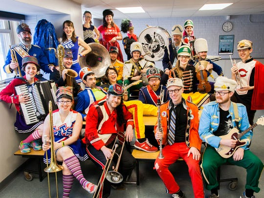 Mucca Pazza colorfully combines marching band and big band music.