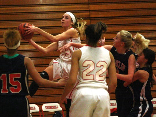 Natalie Spala pumped in a season-high 26 points Friday night for Livonia Churchill.
