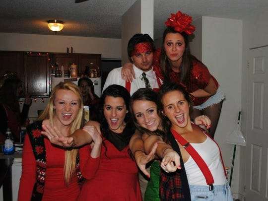 Kate, Colie and their friends get ready for a Christmas