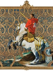 "30 Americans Kehinde Wiley Equestrian Portrait: ""Brooklyn"" artist Kehinde Wiley melds Western European portraiture with contemporary hip hop culture in his paintings."