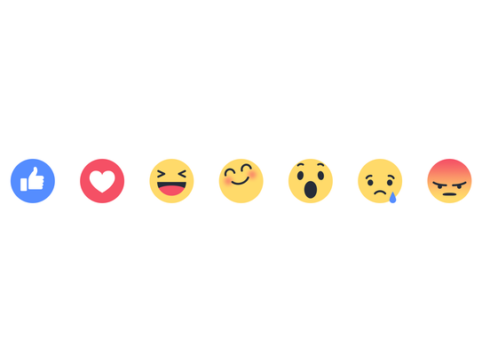 """Facebook's new """"Reactions"""" buttons let you express"""