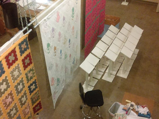 "Several of the quilts featured in the ""Pieces of the"
