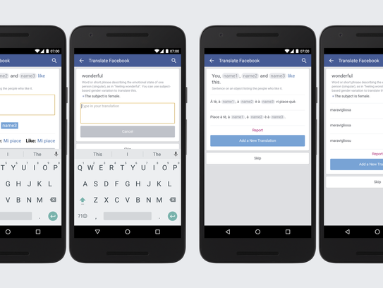 Facebook has been translated into three new languages: