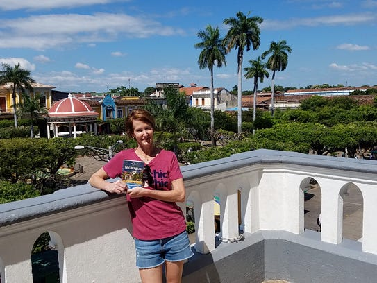 Melissa Williams overlooking Plaza in Granada.