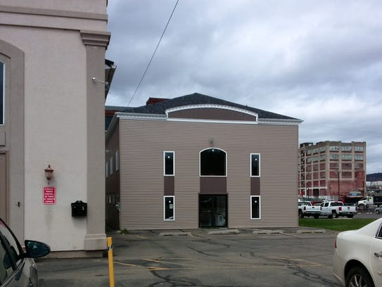The Islamic Organization of the Southern Tier, Mosque on Grand Avenue in Johnson City. Site of the former Fair Play Carmel Factory.