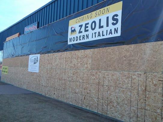 Exterior photo of Zeoli's Modern Italian Restaurant.