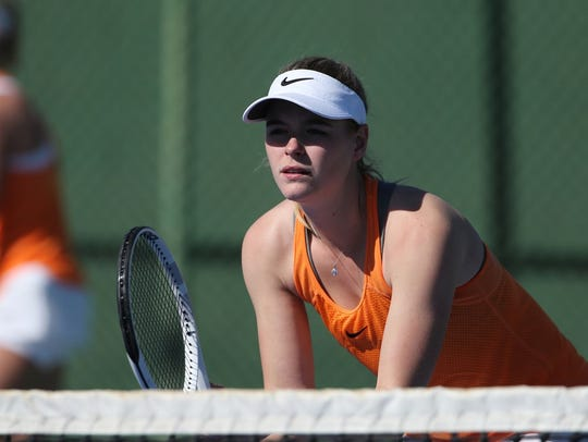 Yvette Van Oijen, a junior graduate transfer from the