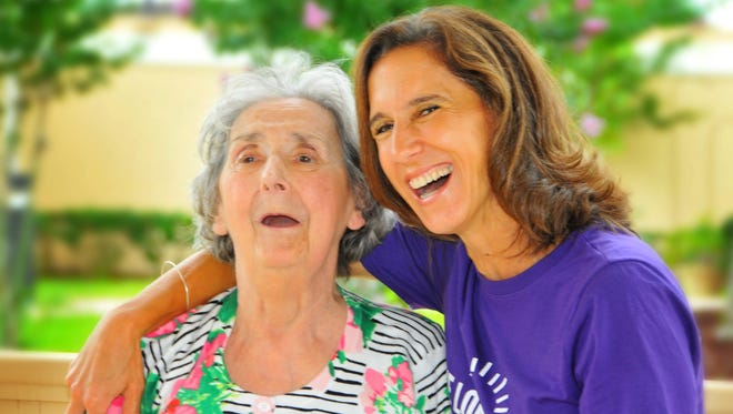 """Cathy Czyzewski with her mom Louise Peterson, who has Alzheimer's. Cathy and her sister Donna Viens have organized the """"Memory Mile"""" walk in conjunction with the Alzheimer's Association, The Longest Day. Their walk is Saturday, June 18."""